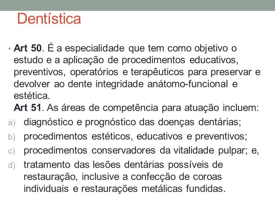 Dentística Art 50.