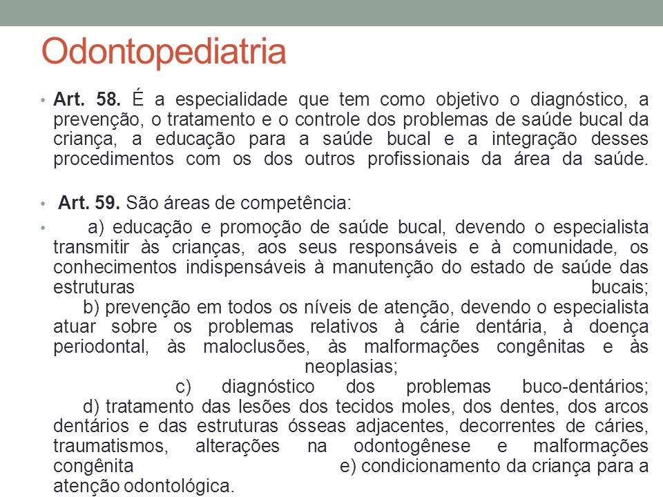 Odontopediatria Art.58.