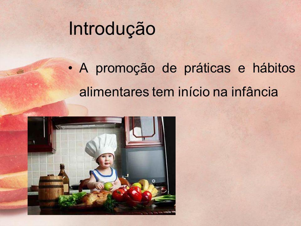 Introdução A promoção de práticas e hábitos alimentares tem início na infância