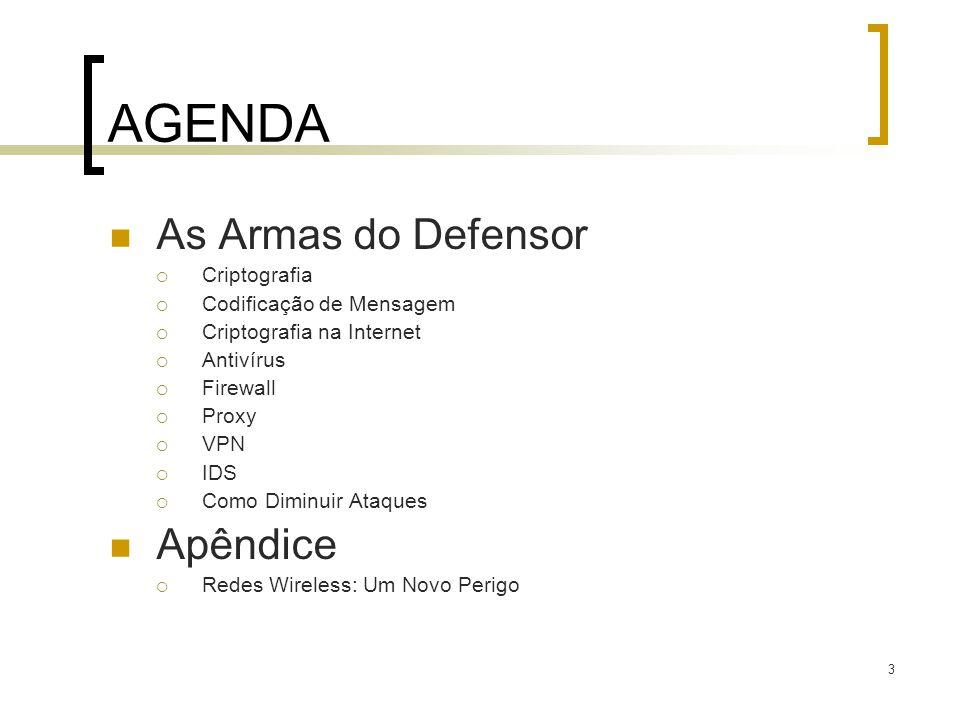 144 Segurança de Redes (resumo) Técnicas básicas…...