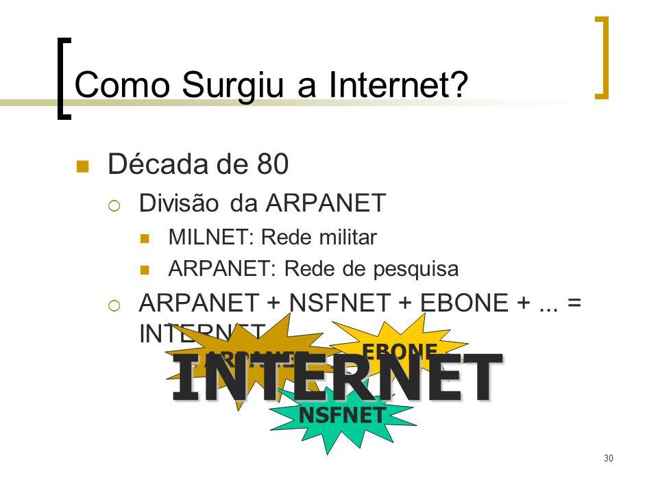 30 Como Surgiu a Internet.