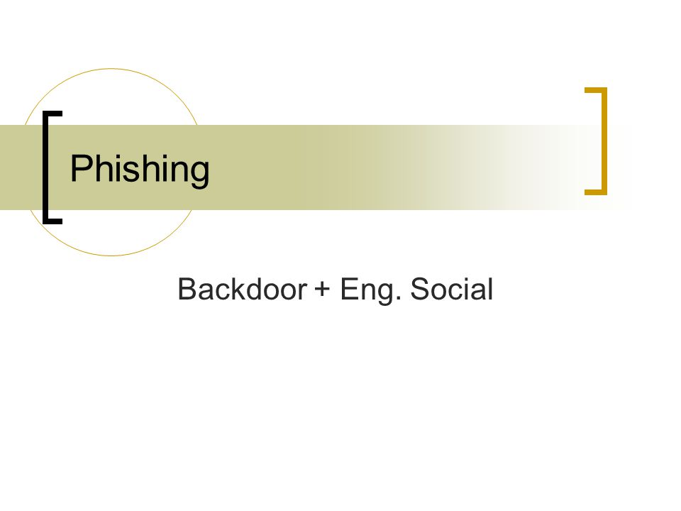 Phishing Backdoor + Eng. Social