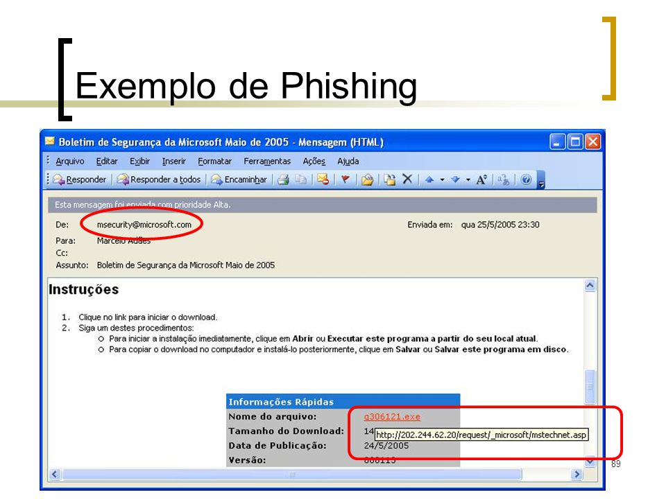 89 Exemplo de Phishing