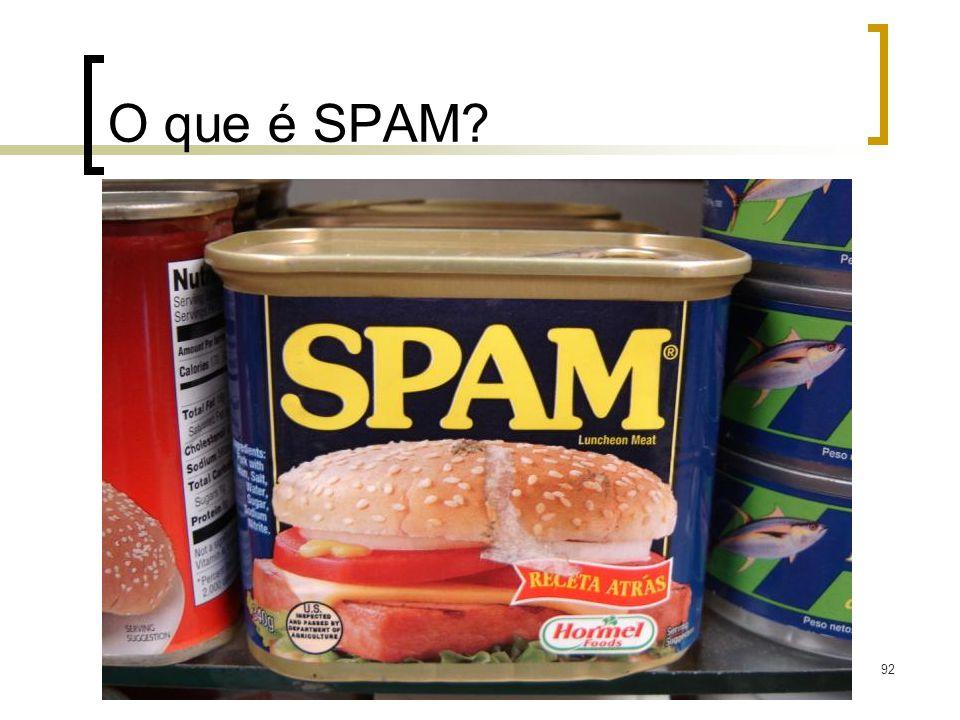 92 O que é SPAM?
