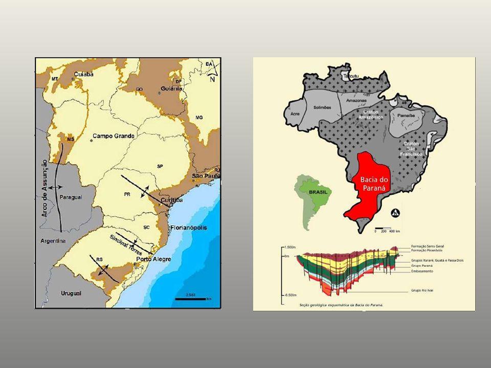 Camada de carvão associada a arenitos da Formação Rio Bonito Local: Encruzilhada do Sul, RS.
