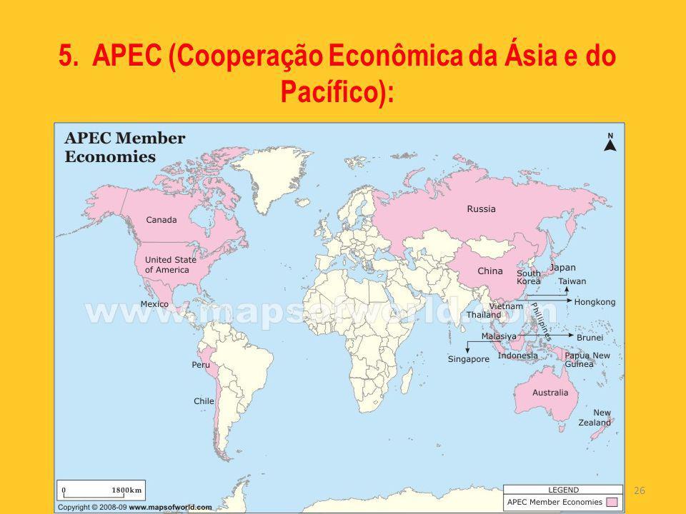 26 5. APEC (Cooperação Econômica da Ásia e do Pacífico):