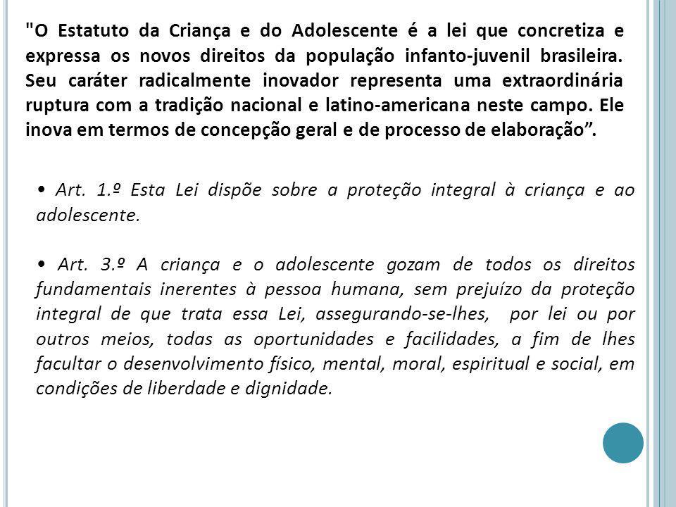 Doutrina da Proteção Integral, defendida pela ONU com base na Declaração Universal dos Direitos da Criança.