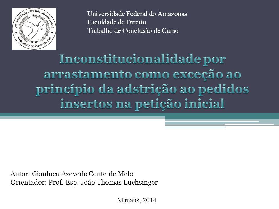 Manaus, 2014 Universidade Federal do Amazonas Faculdade de Direito Trabalho de Conclusão de Curso Autor: Gianluca Azevedo Conte de Melo Orientador: Pr