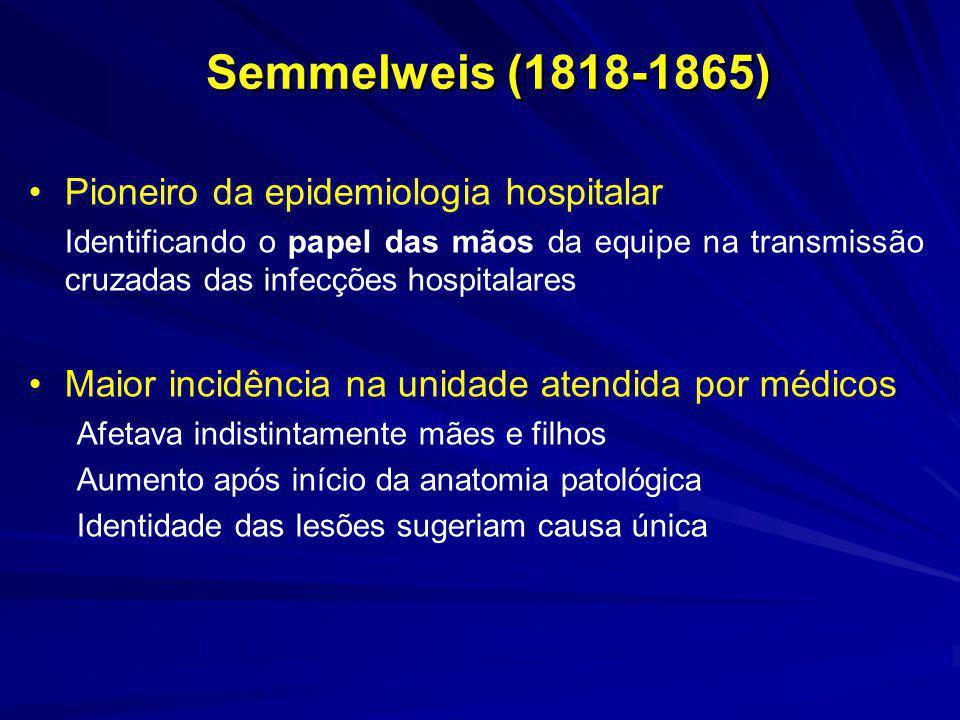 A partir de hoje, 15 de maio de 1847, todo estudante ou médico, é obrigado, antes de entrar nas salas da clínica obstétrica, a lavar as mãos, com uma solução de ácido clórico, na bacia colocada na entrada.