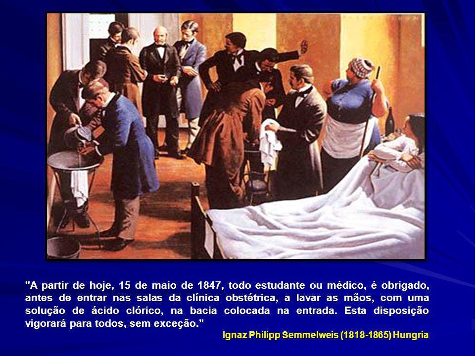Tabela 5: Taxa de mortalidade na Primeira Clínica Obstétrica da maternidade de Viena entre junho de 1847 e dezembro de 1848.