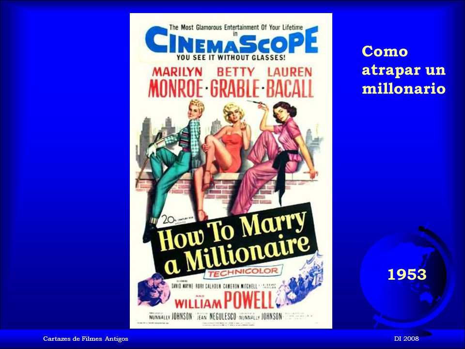 Cartazes de Filmes AntigosDI 2008 1953 Los hombres las prefieren rubias