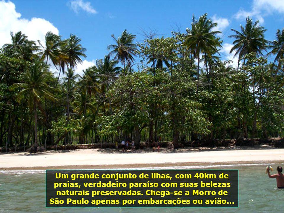 Um grande conjunto de ilhas, com 40km de praias, verdadeiro paraíso com suas belezas naturais preservadas.
