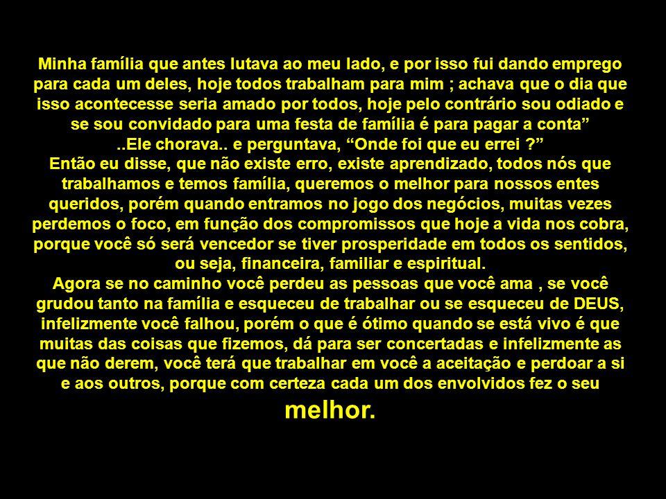 Por isso, não me amole, estou cansado Paulo Lacavah & Amigos – Mensagens de Motivação e-mail : paulo@paulolacava.com.br
