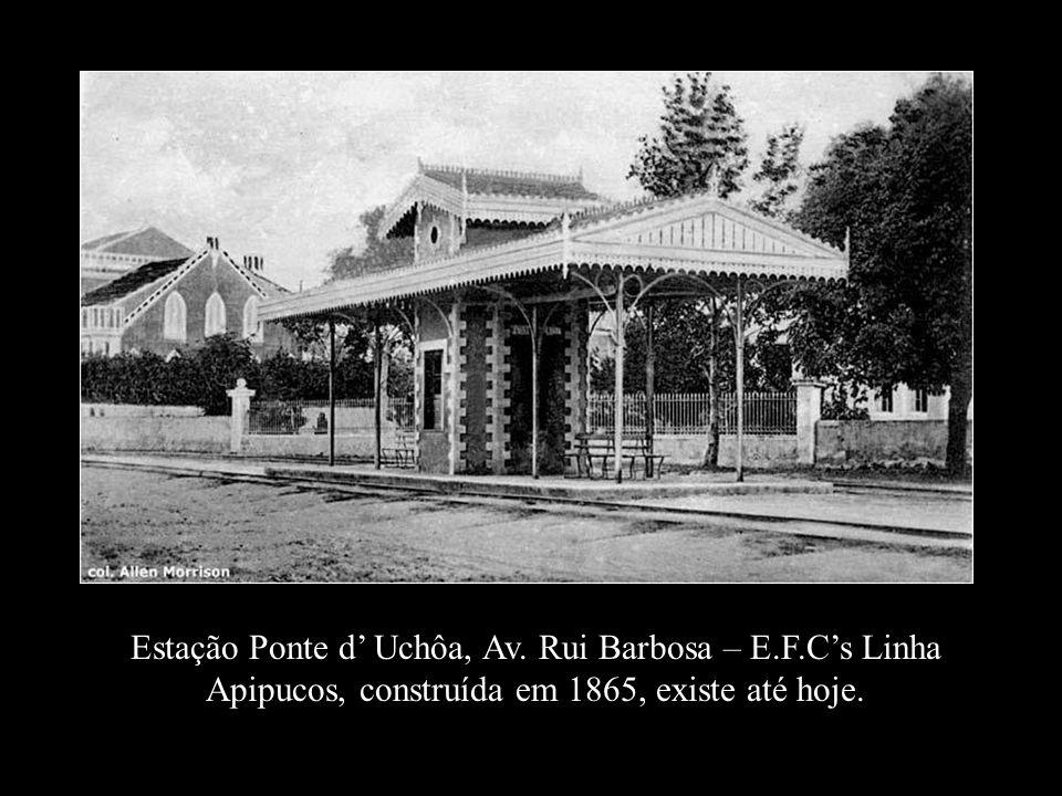 Trem da E. F. de Caxangá, 1900 sobre o Rio Capibaribe