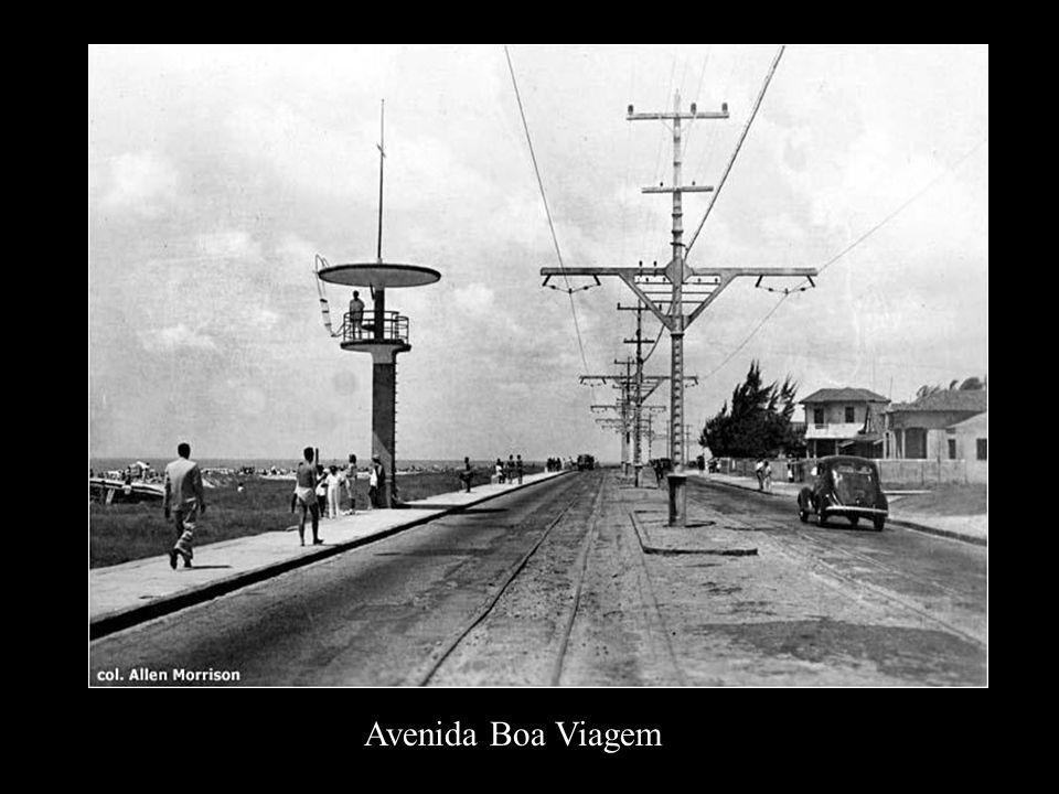 Construção da Av. Boa Viagem e sua linha em 1923