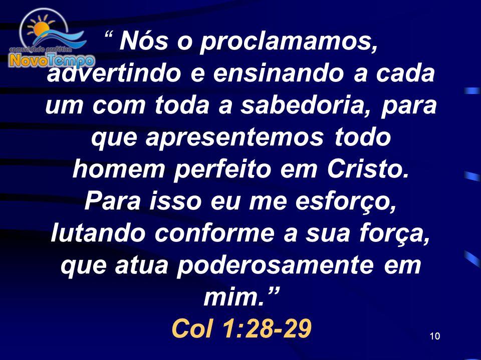 9 O APÓSTOLO PAULO É UM EXEMPLO REAL DO QUE SIGNIFICA CUIDAR DAS ALMAS, ELE SABIA MUITO BEM O QUE É CONSOLIDAÇÃO