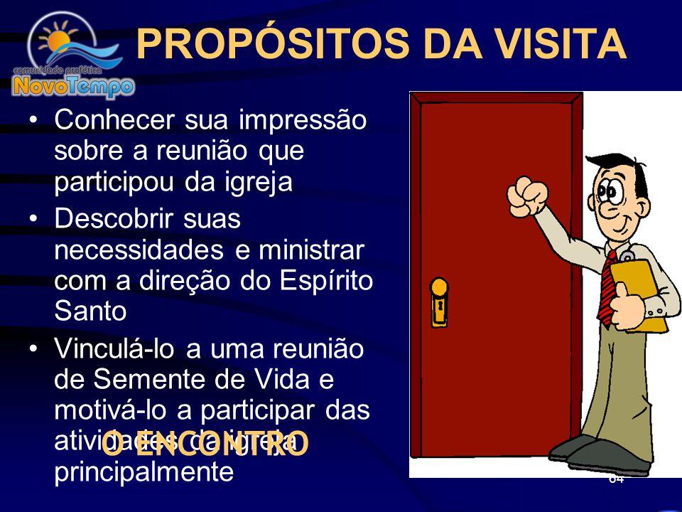 63 JESUS: Visitou a casa da sogra de Pedro Mt 8:14-15 Foi à casa de Zaqueu Lc 19:1-10 Visitou a casa de Marta, Maria e Lázaro João 11:36 Treinou seus
