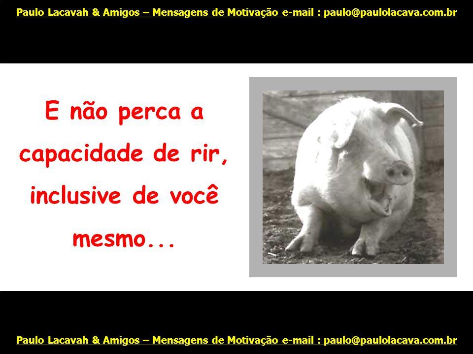 Sinta-se orgulhoso de si mesmo... Paulo Lacavah & Amigos – Mensagens de Motivação e-mail : paulo@paulolacava.com.br