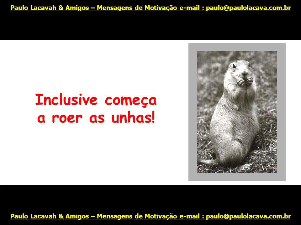 Você se sente frustrado e ansioso... Paulo Lacavah & Amigos – Mensagens de Motivação e-mail : paulo@paulolacava.com.br