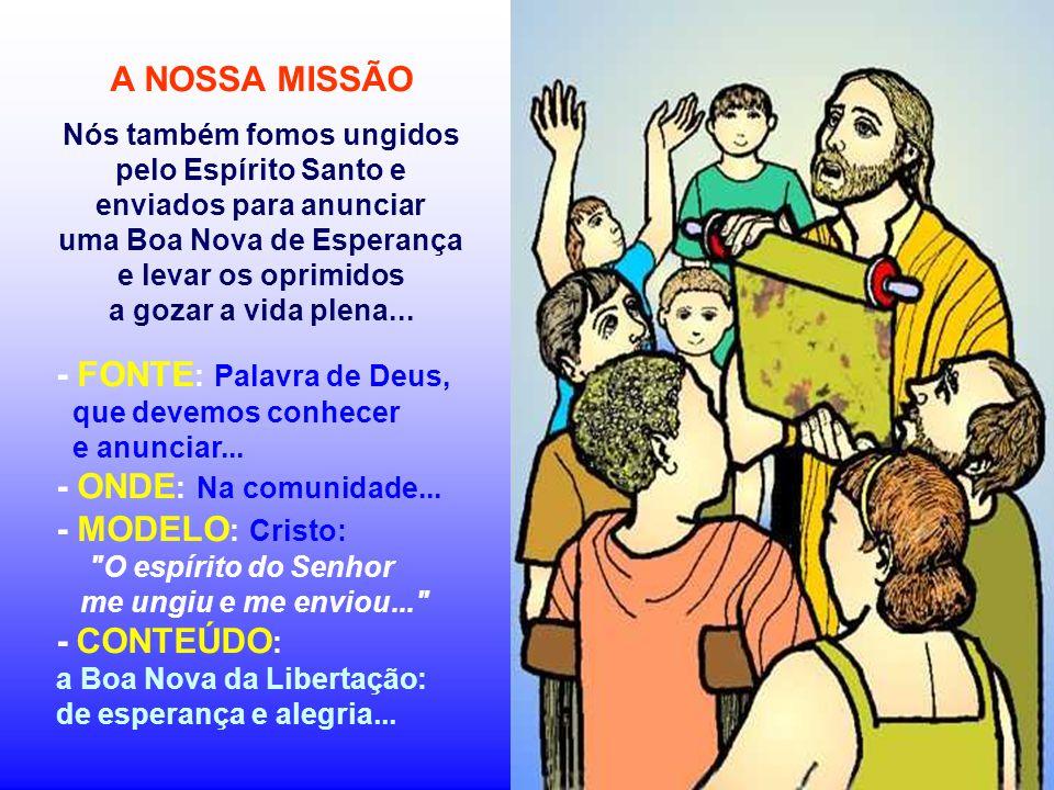 No Evangelho, Cristo proclama e atualiza a PALAVRA DE DEUS, num sábado, na sinagoga de Nazaré. (Lc 1,1-4;4,14-21) É o início do evangelho de Lucas, pr
