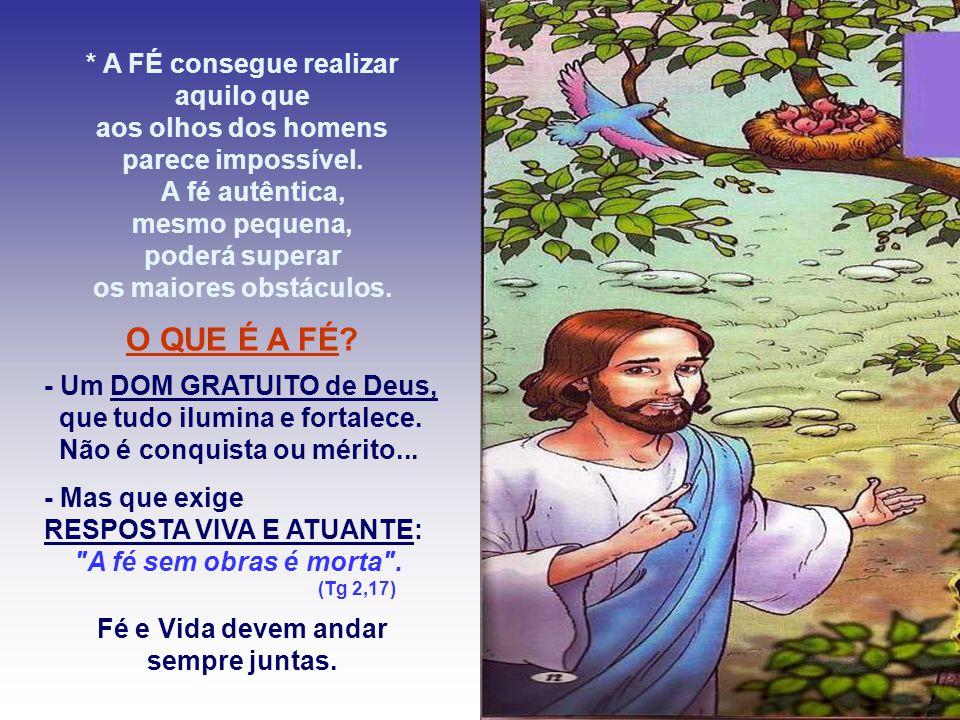 No Evangelho, Jesus afirma que a fé remove os obstáculos.