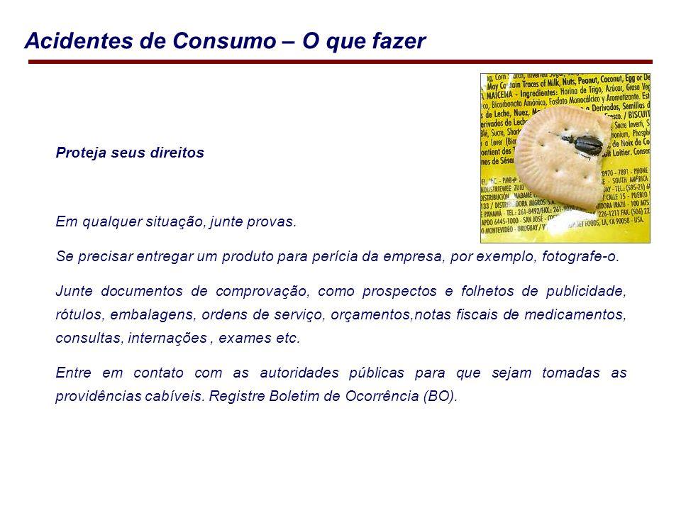 Acidentes de Consumo – O que fazer Proteja seus direitos Em qualquer situação, junte provas.