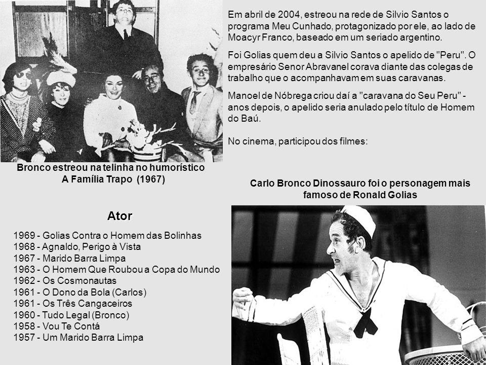 Biografia Ronald Golias Filho de Arlindo Golias e Conceição D'Aparecida Golias, Ronald Golias já nasceu com esse nome - não é nome artístico - no dia