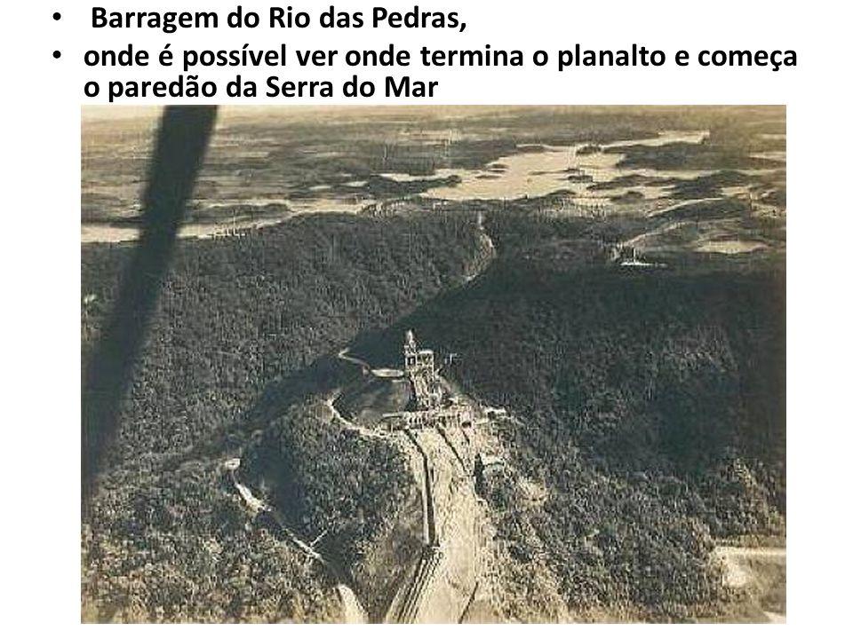 Barragem do Rio das Pedras, onde é possível ver onde termina o planalto e começa o paredão da Serra do Mar
