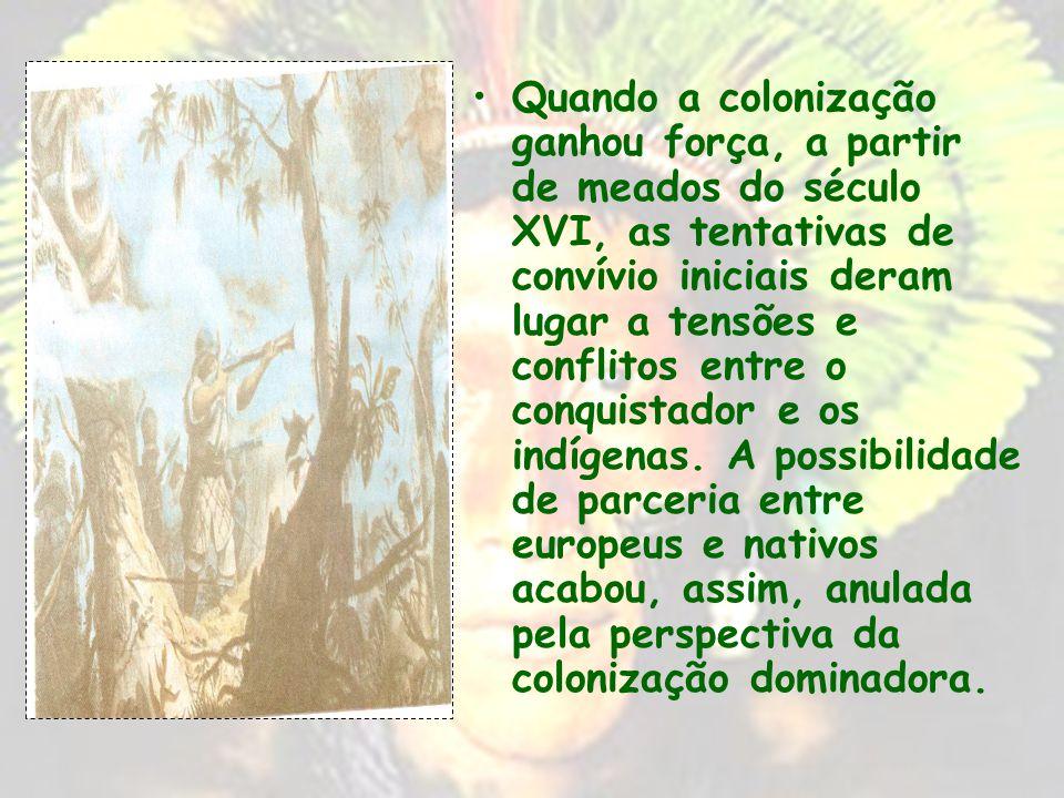 A política indigenista do Estado português teve a preocupação de submeter a população nativa ao esforço de defesa e exploração de seus domínios no con