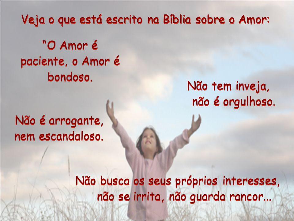 Assim, o Amor de Deus é derramado na terra dos nossos corações. Assim, o Amor de Deus é derramado na terra dos nossos corações. Mas quando isso aconte