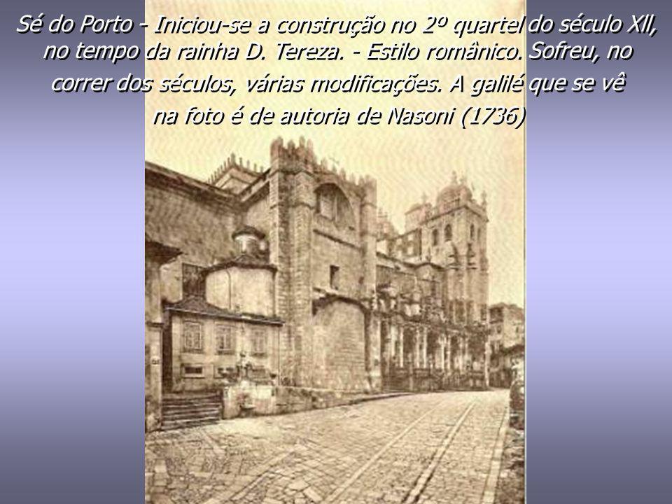 Porto de Leixões - Construído na foz do rio Leça. Foi lançada a primeira pedra em 1884, por proposta do ministro Hintze Ribeiro e aprovação de Fontes