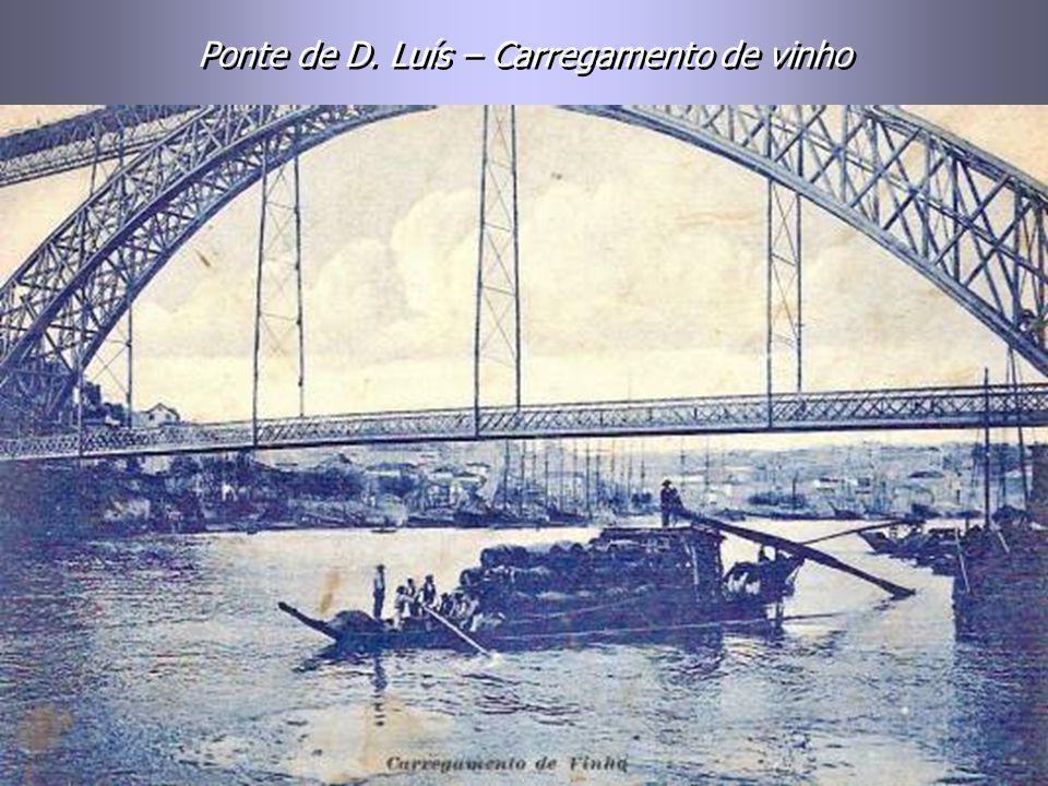 Ponte de D. Luís - Projectada por Teófilo Seyrig. Inaugurada a 31-10-1886. Foi benzida pelo Cardeal D. Américo. Ponte de D. Luís - Projectada por Teóf