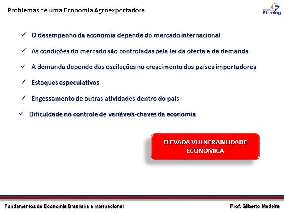 Prof. Gilberto Madeira Fundamentos da Economia Brasileira e Internacional Problemas de uma Economia Agroexportadora O desempenho da economia depende d