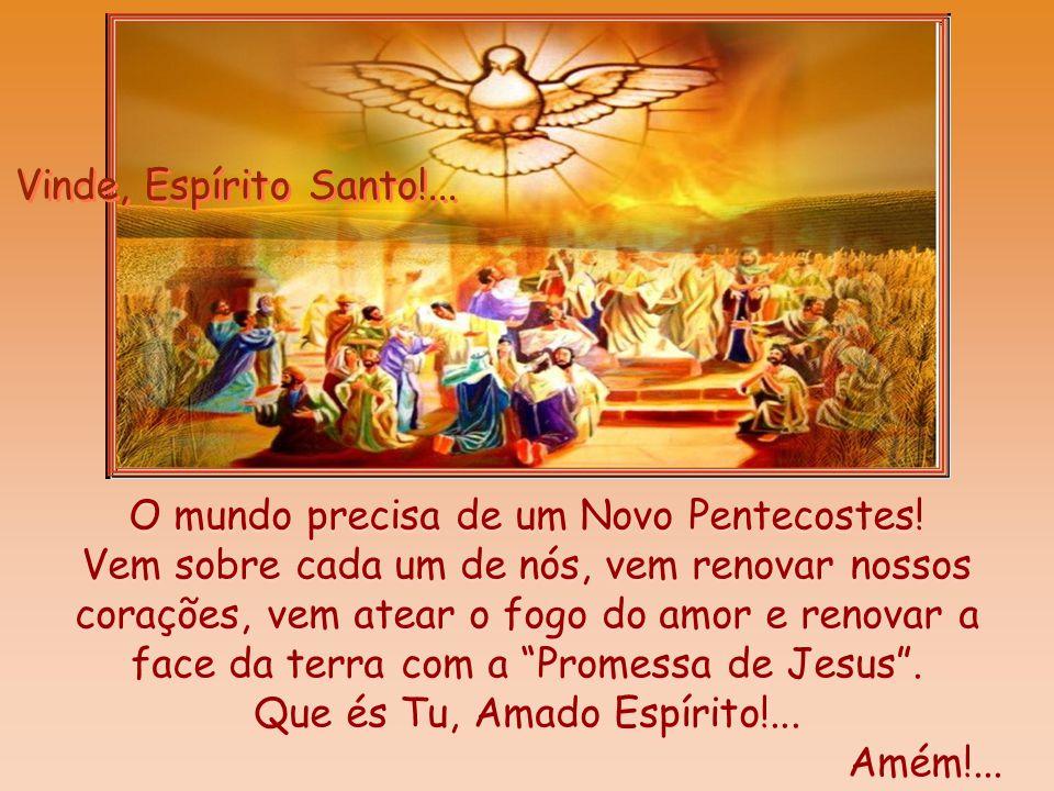 Pedro, cheio do Espírito Santo, fez o mundo ouvir a primeira voz da Igreja, anunciando: A promessa é para vós, para os vossos filhos e para todos os q