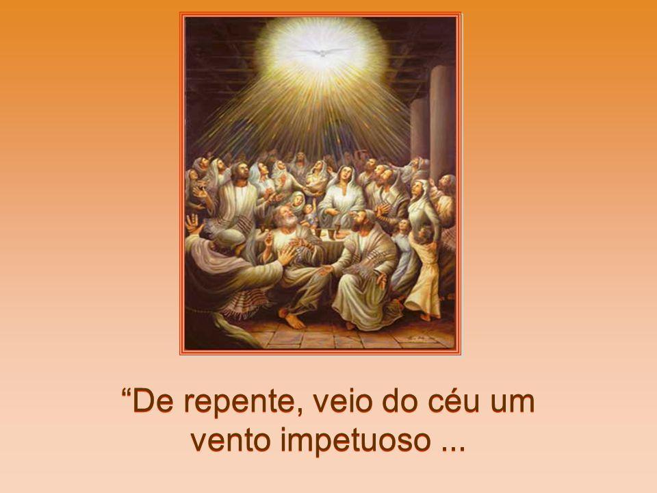 Afinal: Chegando o dia de Pentecostes (a grande festa da colheita celebrada pelos judeus 50 dias depois da Páscoa), estavam todos reunidos no mesmo lu