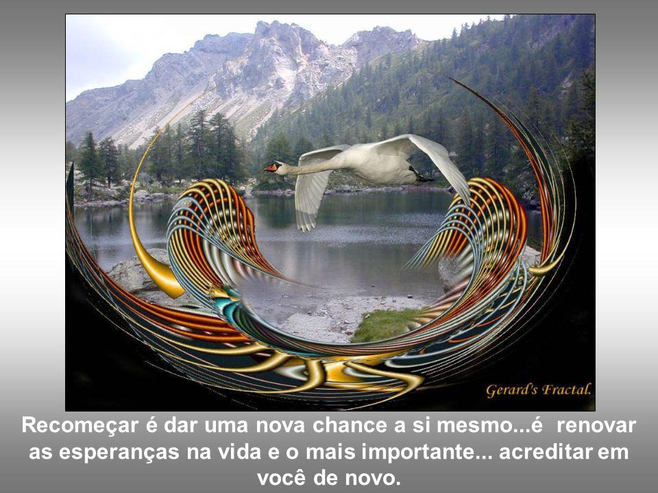 Recomeçar é dar uma nova chance a si mesmo...é renovar as esperanças na vida e o mais importante...