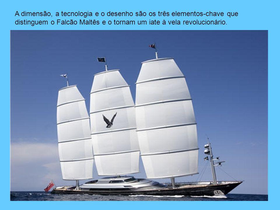A dimensão, a tecnologia e o desenho são os três elementos-chave que distinguem o Falcão Maltês e o tornam um iate à vela revolucionário.