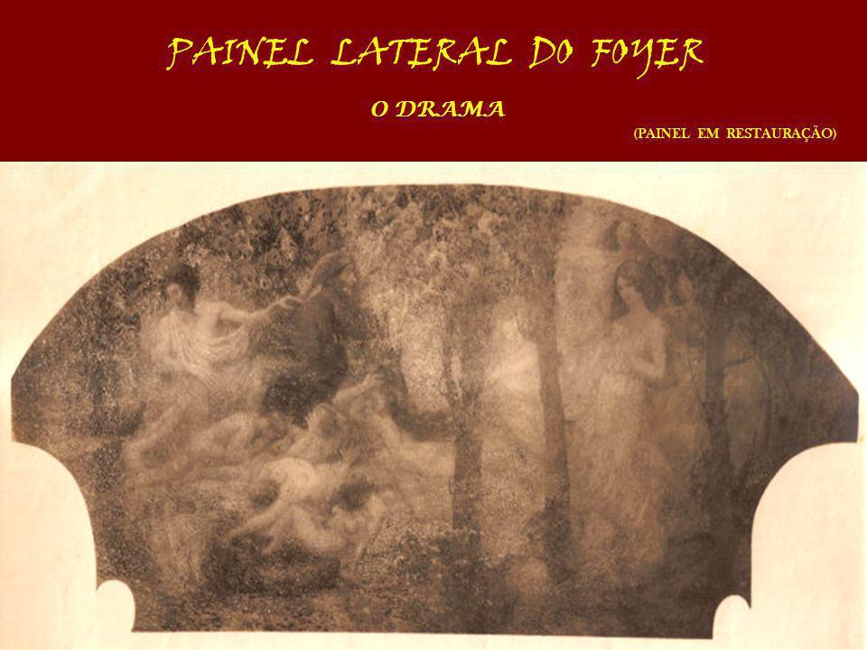 PAINEL LATERAL DO FOYER O DRAMA (PAINEL EM RESTAURAÇÃO)