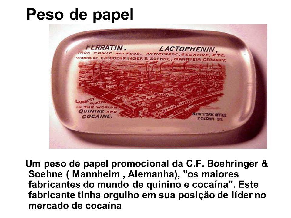 Peso de papel Um peso de papel promocional da C.F. Boehringer & Soehne ( Mannheim, Alemanha),