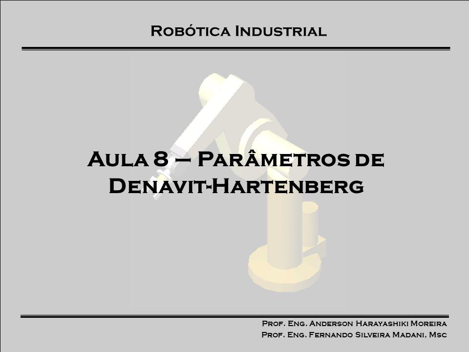 Prof. Eng. Anderson Harayashiki Moreira Prof. Eng. Fernando Silveira Madani, Msc Robótica Industrial Aula 8 – Parâmetros de Denavit-Hartenberg