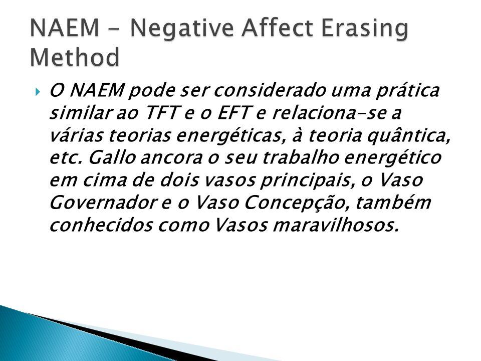 Fred Gallo desenvolveu um método breve baseado no tratamento da energia – o NAEM – que tem sido efetivo na neutralização de vários afetos/sentimentos negativos.