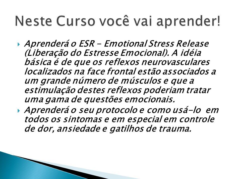 Aprenderá o NAEM, método desenvolvido por Fred Gallo baseado no tratamento da energia e que tem se mostrado efetivo na neutralização de vários afetos/sentimentos negativos.