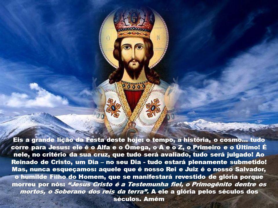 Deus eterno e todo-poderoso, que dispusestes restaurar todas as coisas no vosso amado Filho, Rei do universo, fazei que todas as criaturas, libertas d