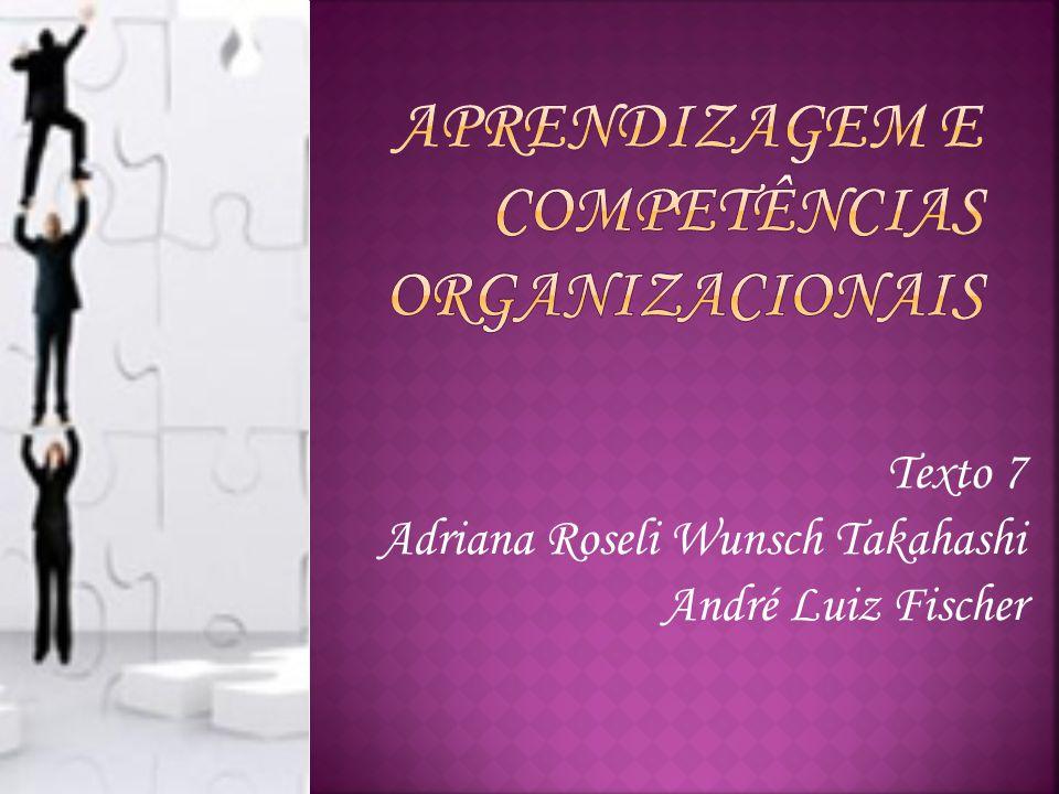 Texto 7 Adriana Roseli Wunsch Takahashi André Luiz Fischer
