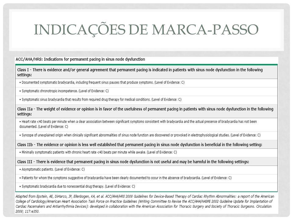 INDICAÇÕES DE MARCA-PASSO