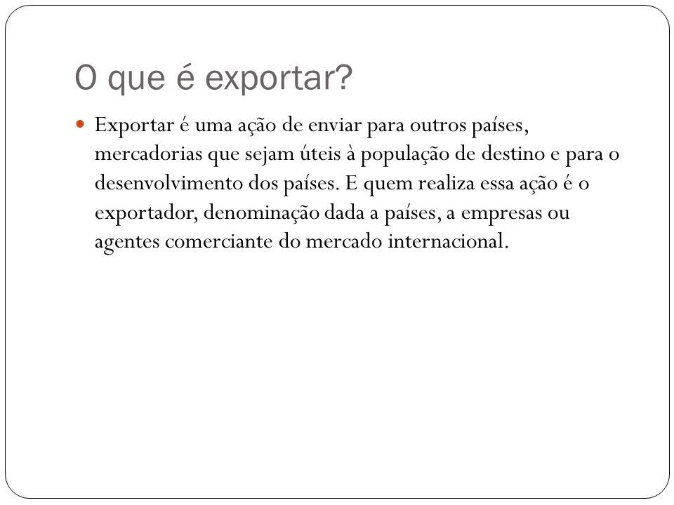 O que é exportar.
