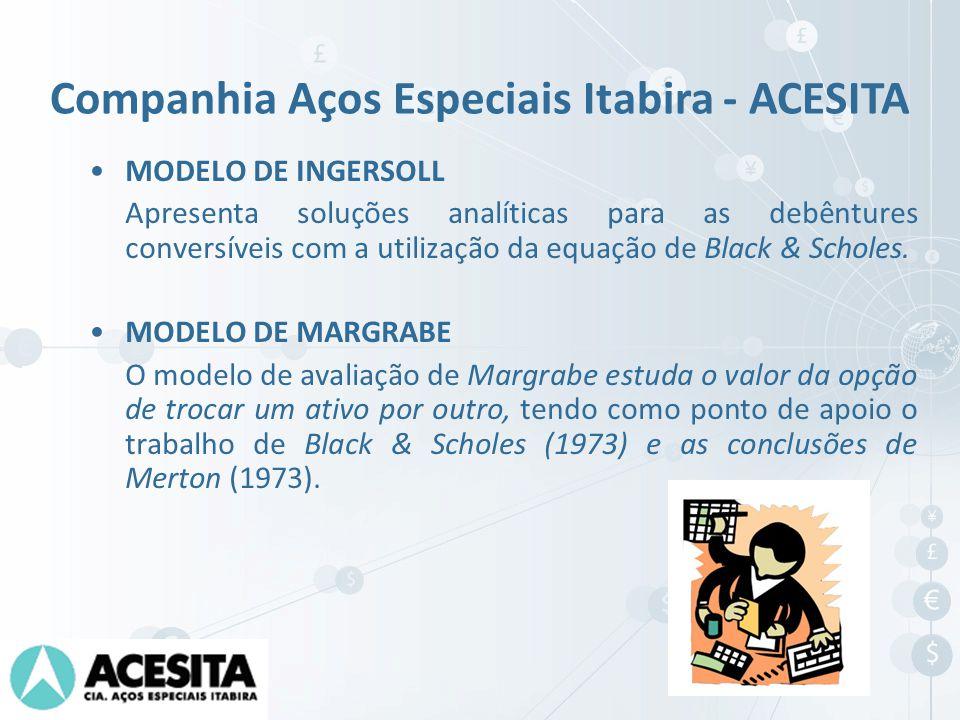 MODELO DE INGERSOLL Apresenta soluções analíticas para as debêntures conversíveis com a utilização da equação de Black & Scholes. MODELO DE MARGRABE O