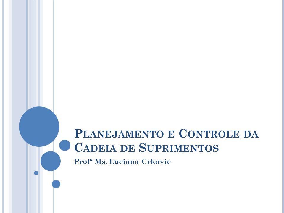 P LANEJAMENTO E C ONTROLE DA C ADEIA DE S UPRIMENTOS Profª Ms. Luciana Crkovic