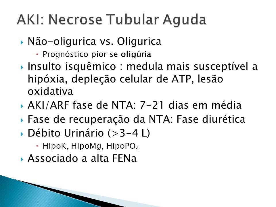 Não-oligurica vs.