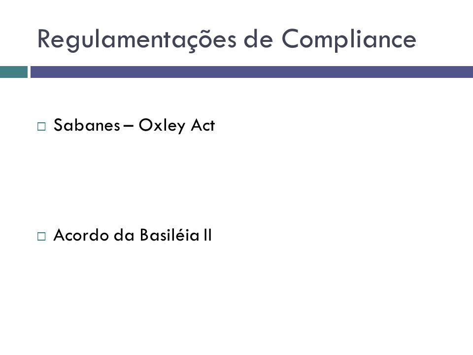 Regulamentações de Compliance Sabanes – Oxley Act Acordo da Basiléia II